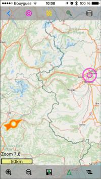 Daten auf Karte